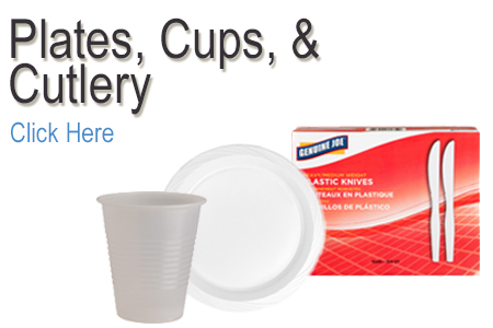 Plates, Cups & Cutlery